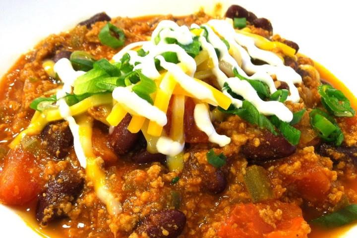 Kalkúna chili (video uppskrift)