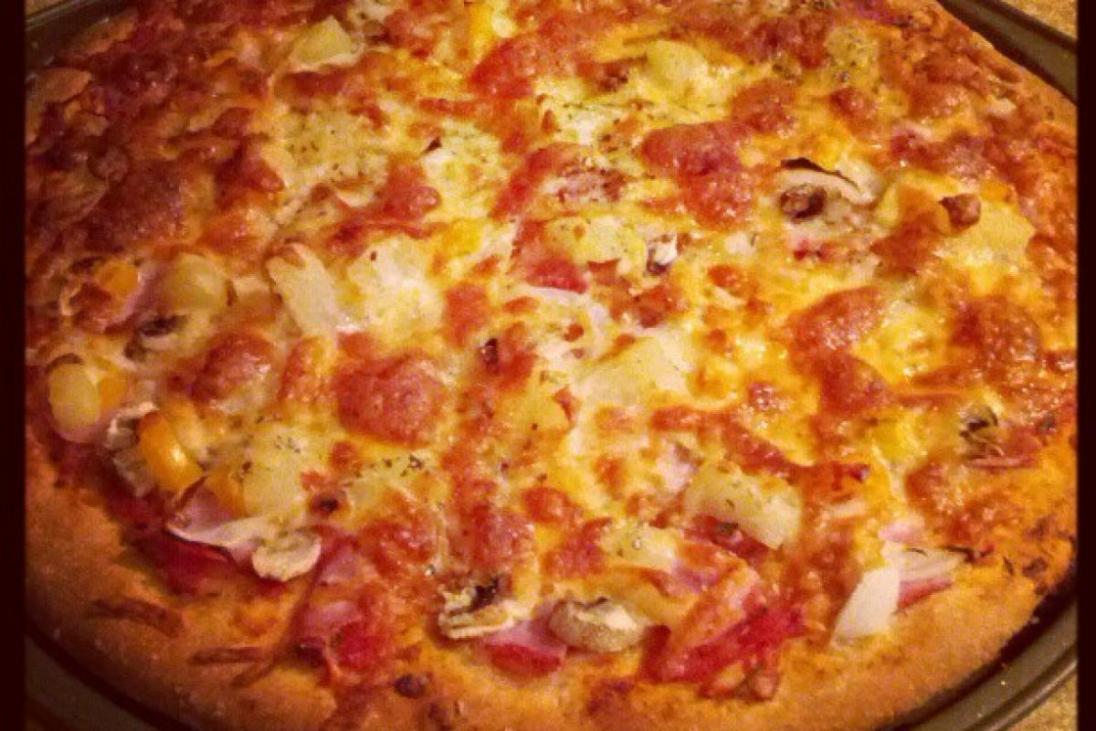 Fljótleg og góð heilhveitipizza