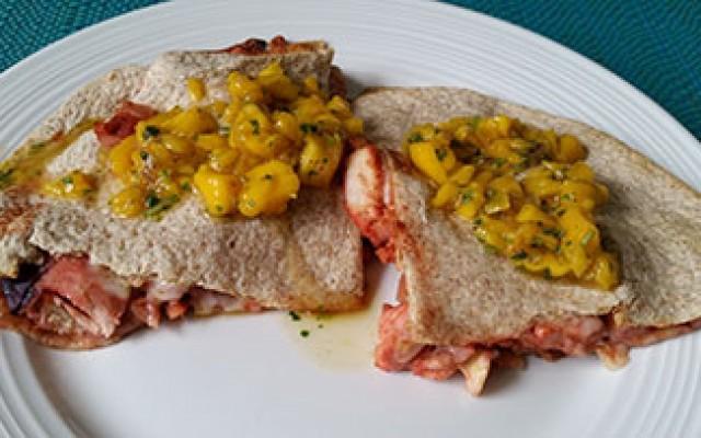 Tandoori quesadillas with mango chutney