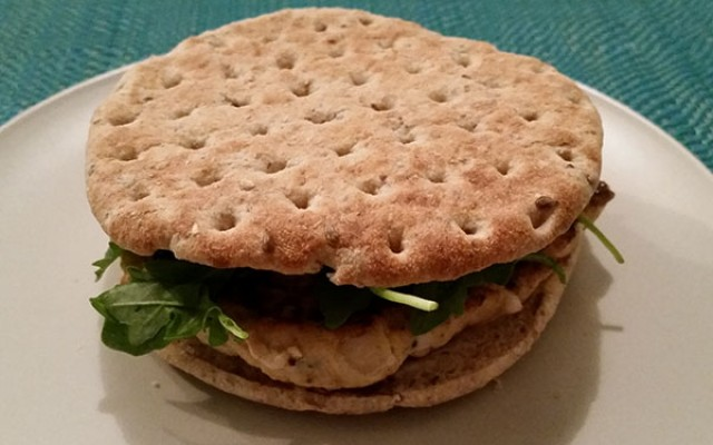 A different kind of chicken burger